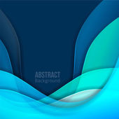 Abstract blue light vector background. forms a smooth transition and waves. — Stock Vector