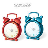 Set of Classic alarm clock with bells on top — Stok Vektör