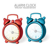 Set of Classic alarm clock with bells on top — Cтоковый вектор