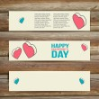 Vector Banners. Set of Three. Abstract Background With Hearts. — Stock Vector #59968801