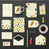 Vector company corporate style template design, stylish ice cream — Stock Vector