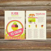 Abstract  Brochure Flyer design vector template. stylish ice cream — Stock Vector