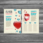 Holiday  Brochure Flyer design vector template. — Vetor de Stock