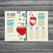 Holiday  Brochure Flyer design vector template. — Stok Vektör