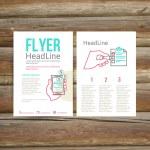 Abstract Brochure Flyer design, checklist — Stock Vector #60473863