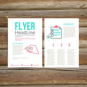 Abstract Brochure Flyer design, checklist — Stock Vector