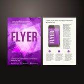 Abstract  Brochure Flyer design vector template. — Stock Vector