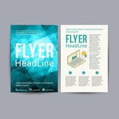 Abstract  Brochure Flyer design vector template. — Stockvektor