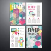 Abstract  Brochure Flyer design vector template. — ストックベクタ