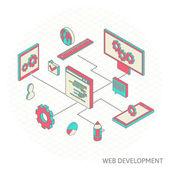 Isometric illustration of website analytics — ストックベクタ