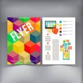 Abstract  Brochure Flyer design vector template. — Stock Vector