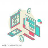 Mobile and desktop website design development process — Stockvektor
