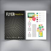 Abstract  Brochure Flyer design vector template. — Stockvector