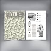 Abstract  Brochure Flyer design vector template. — ストックベクタ