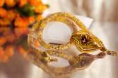 Koraliki, ręcznie wykonane, koraliki, piękne, ozdoba, — Foto de Stock