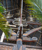 Wealth symbol in Tana Toraja — Stock Photo