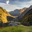 Alpine valley at sunset — Stock Photo #57309987