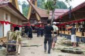 Traditional funeral in Tana Toraja — Stock Photo