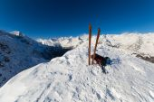 On the top by ski touring — Stock fotografie