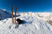 On the top by ski touring — Stock Photo