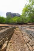 Sigiriya rock from below, Sri Lanka — Stock Photo