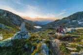 Warm sunrise in the Alps — Stock Photo
