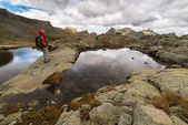 Hiking in the italian Alps — Stock Photo