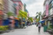 Pedestrian street in asian city — Stock Photo