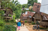 Everyday life in traditional village of Tana Toraja — Zdjęcie stockowe