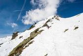 Mountaineering towards the mountain top — Stock Photo