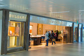 Bulgari store at Fiumicino Airport in Rome — Stock Photo