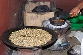Traditional ethiopian coffee ceremony — Stock Photo