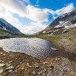 Little lake at high altitude in the Alps — Stok fotoğraf #75945879