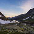 High altitude alpine landscape at sunset — ストック写真 #76691451