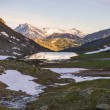 High altitude alpine landscape at sunset — 图库照片 #76750343