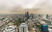 Smog and haze over Bangkok, cityscape from above — Stock Photo