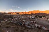 Sunset on Tupiza red mountain range, Southern Bolivia — Stock Photo
