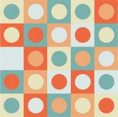 Abstract background circles on the square vector — Stockvector