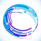 Blue abstract futuristic curve vector background — Stock Vector