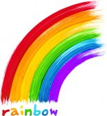 Acrylic painted rainbow, vector image — Stock Vector