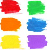 Bright rainbow colors vector marker stains — Vettoriale Stock