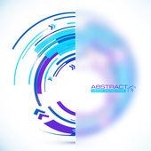 Abstract blue circle banner — Stock Vector