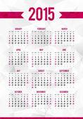2015 year calendar — Stok Vektör