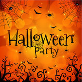 Halloween party greeting card — Stock Vector