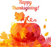 Thanksgiving pumpkin greeting card — Stock Vector