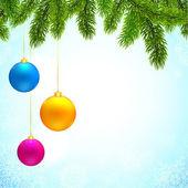 Noel topları arka plan — Stok Vektör