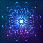 Cosmic flower — Stock Vector