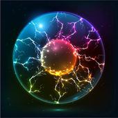 Rainbow colors  plasma ball — Stockvektor