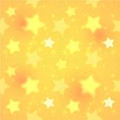 Yellow blurred shining stars — Stock Vector