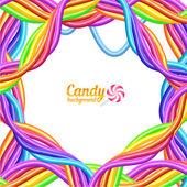 Candies background — Stock Vector